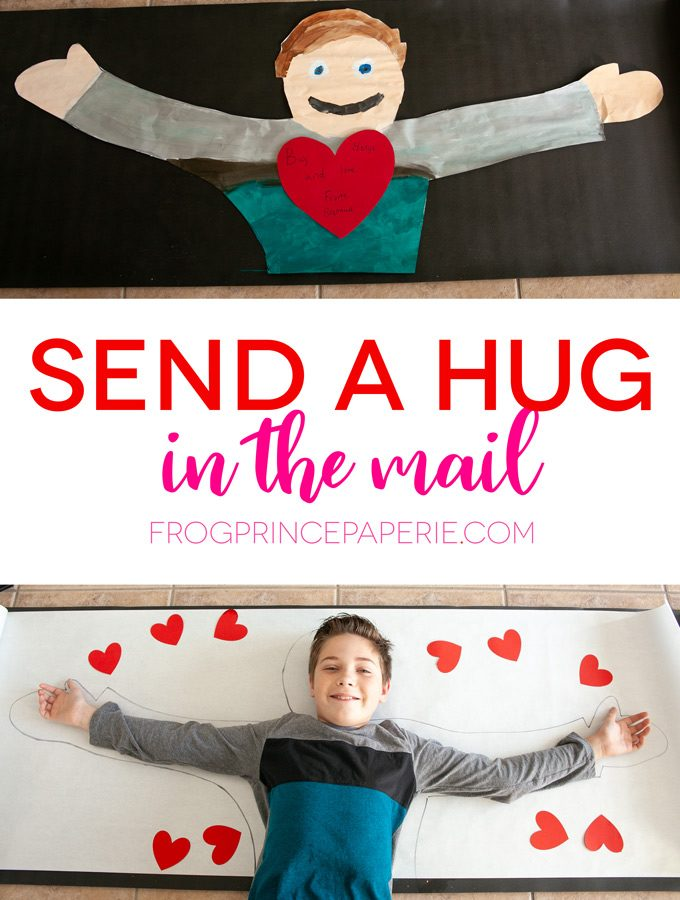 Send a hug in the mail as a great kid craft project at home that doubles as a random act of kindness!