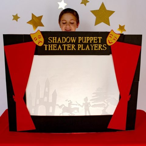 Shadow Puppet Theater Indoor Activity for Kids