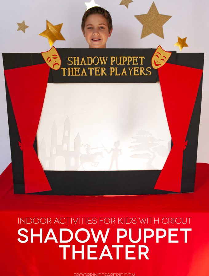 indoor activities for kids with tons of imagination--a shadow puppet theater!