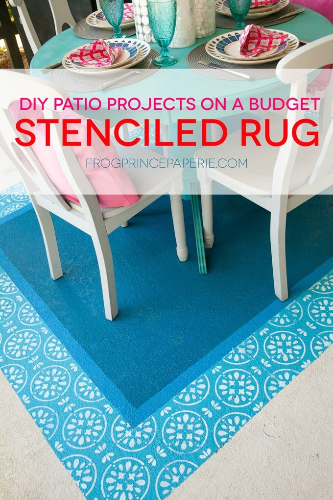 DIY Patio on a Budget : Painted Rug