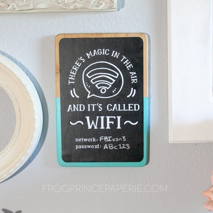 Thrift Store Crafts: Wi-Fi guest sign