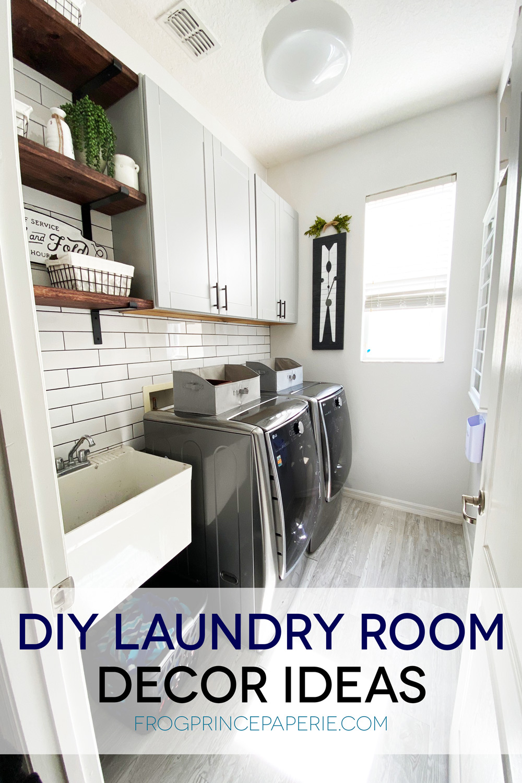DIY Laundry room decor ideas on a budget