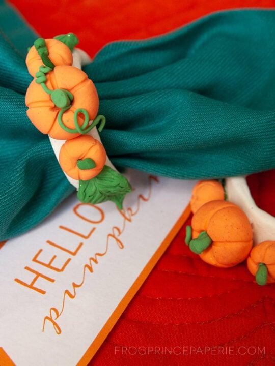DIY Pumpkin Napkin Rings