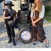 DiY thrift store steampunk costumes