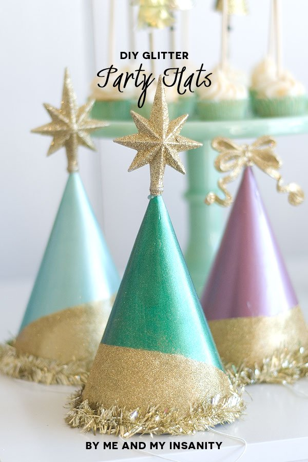 A season to sparkle holiday party inspiration #thepartyhop, DIY party hats