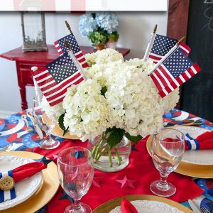 4th of July Centerpiece and Tablescape ideas