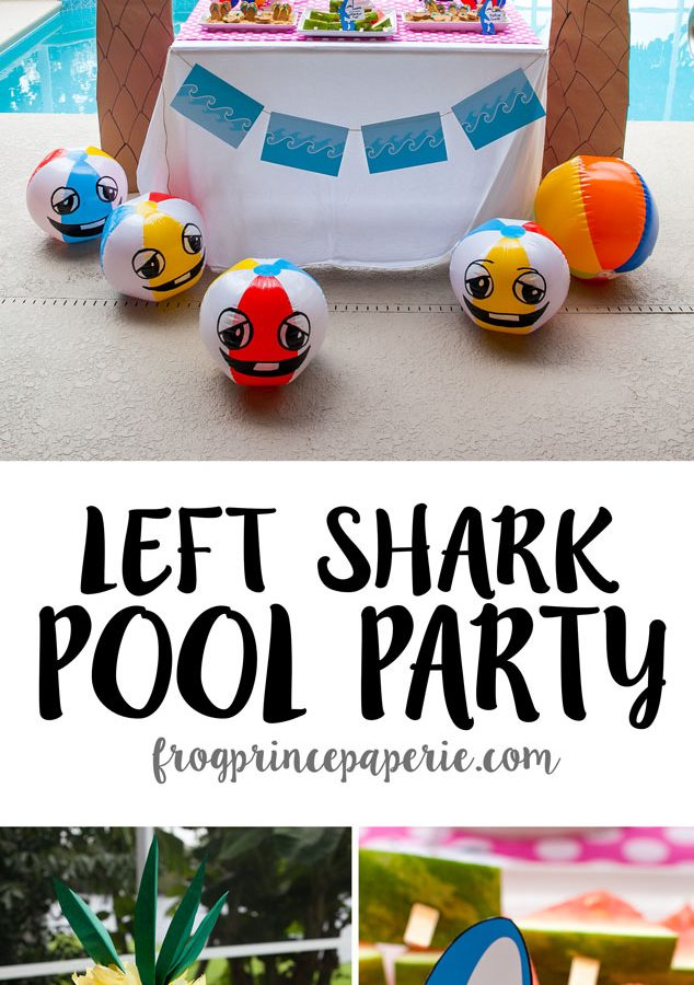 Getting ready for summer parties and need some unique inspiration? How about a few pool party ideas that get down with left shark and his friends for some cartoony, beachy pool fun. Whip these ideas up for a birthday pool party or get together for an event that will melt your popsicle and make you the hit of the summer!