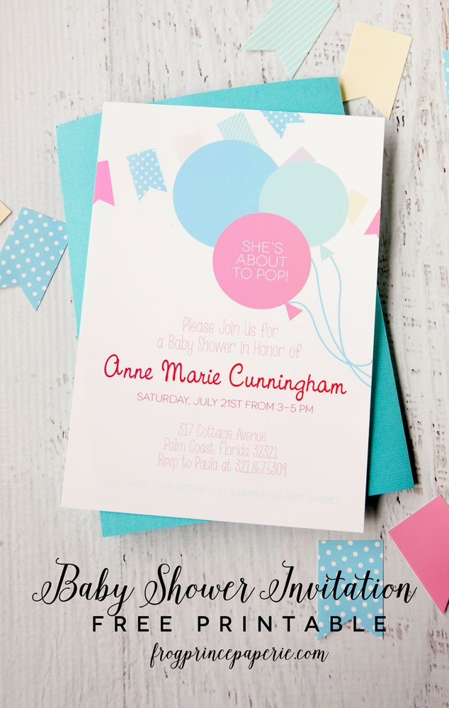about to pop free printable baby shower invitation