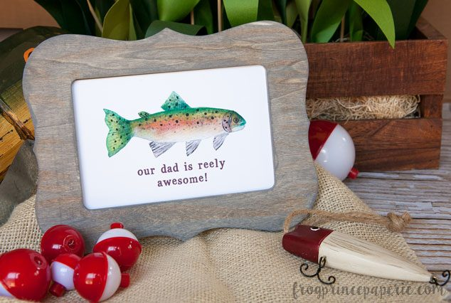 How To Age Unfinished Wood For A Fathers Day Gift Fishing Frame