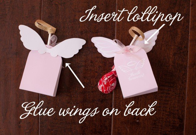 Angel lollipop party favor wings
