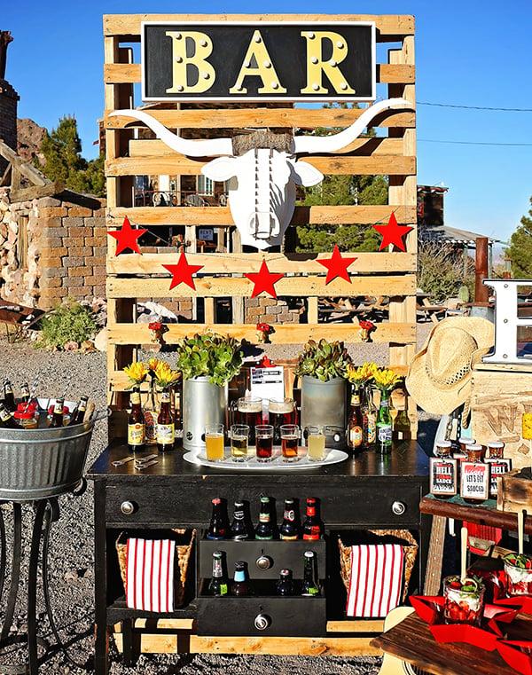 Backyard-BBQ-Southern-Belles-Charm-Beer-Tasting-Bar-Display-Full-Shot