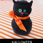 Kids' 15 Minute Halloween Craft: Black Sock Cat