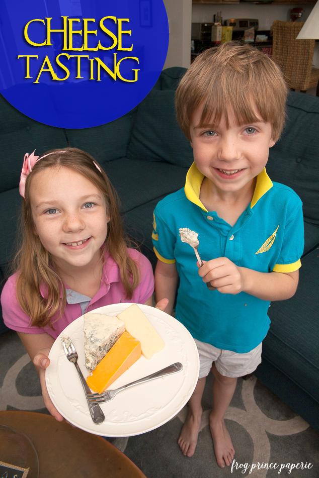 Boxtrolls family movie night - cheese tasting
