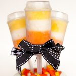 Candy Corn Push Pops for Halloween