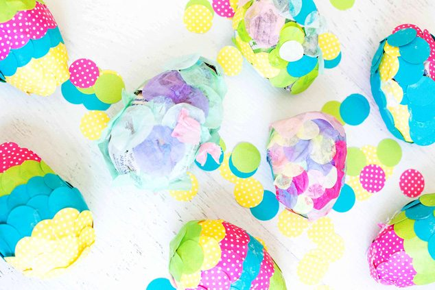 Have family craft time making paper mache Easter eggs this spring! Artists of all ages are encouraged to try!
