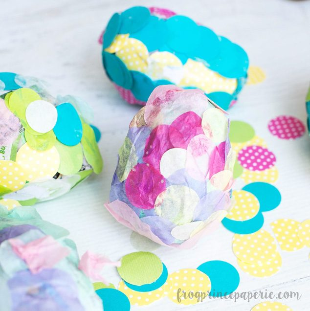 Have family craft time making confetti paper mache Easter eggs this spring!