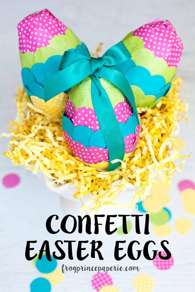 Easy confetti paper mache easter eggs for How do you make paper mache glue at home