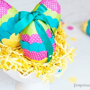 Confetti Paper Mache Easter Eggs Kid Craft