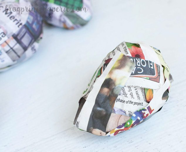 Have family craft time making paper mache Easter eggs this spring!