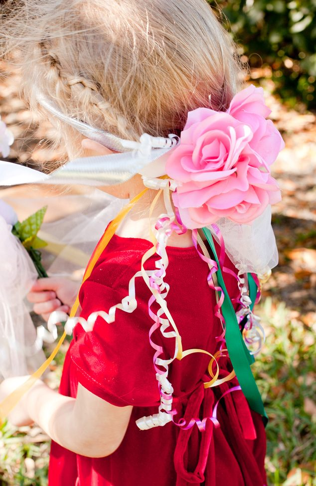 This quick kid craft to make a DIY fairy headband will keep the kids entertained for hours! Pick your favorite ribbon and flowers to make.
