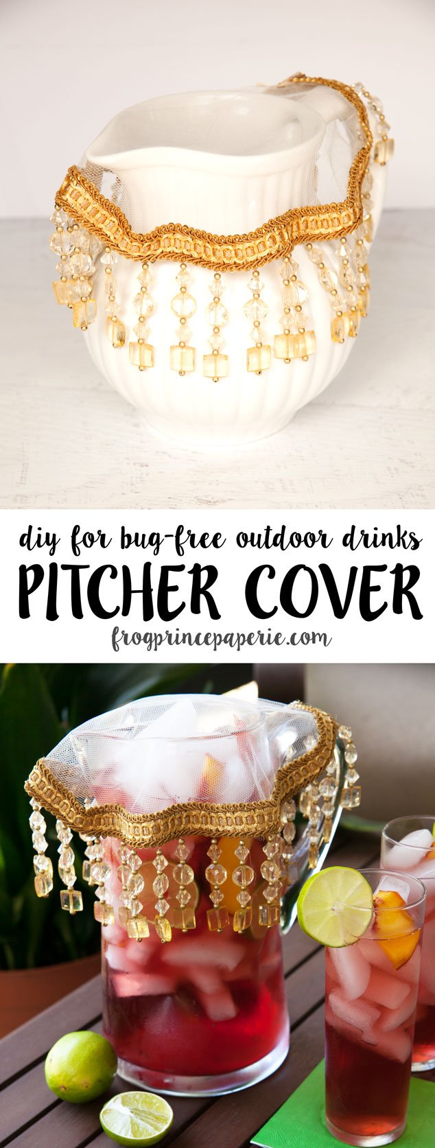 pretty diy outdoor drink pitcher protector frog prince paperie