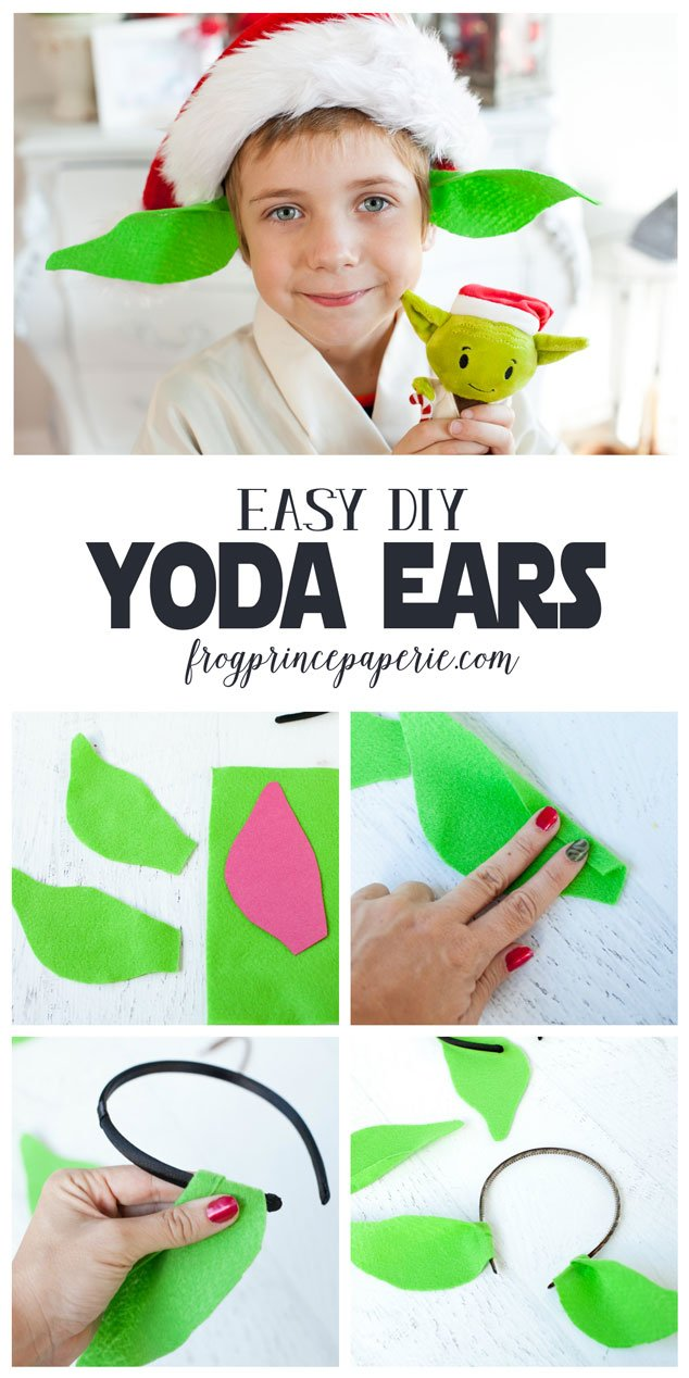 Easy diy star wars costumes frog prince paperie diy yoda ears headband how to make headband yoda ears solutioingenieria Gallery