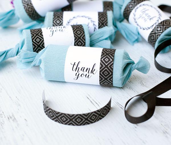 Diy Wedding Party Favors: Quick & Easy DIY Party Cracker Wedding Favors