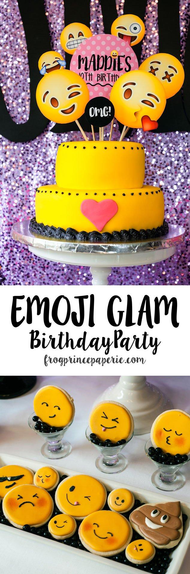 Glam Emoji Birthday Party Ideas