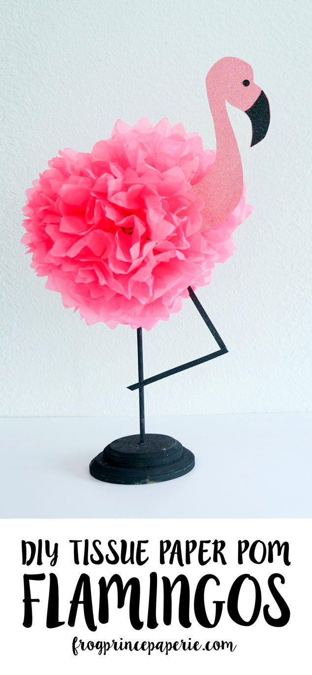 Luau Tissue Paper Pineapple Pouf And Diy Pink Flamingo Decor