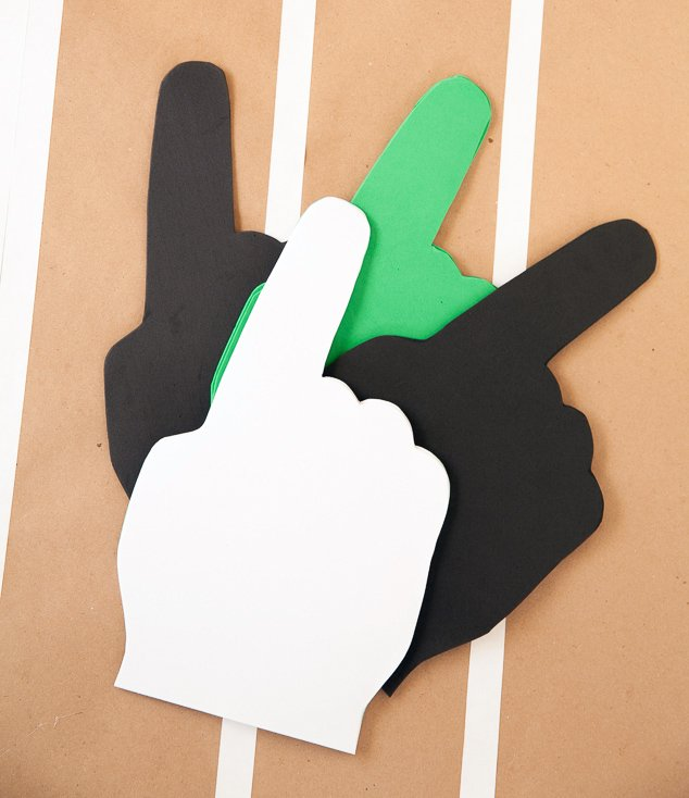 how to make a foam finger