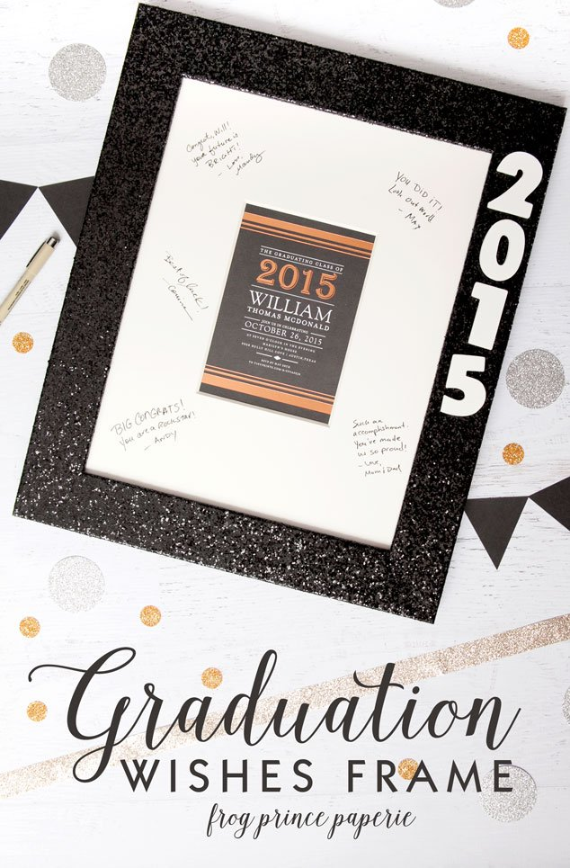 graduation wishes memory frame tutorial frog prince paperie