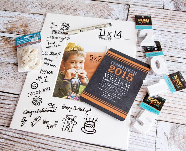 Graduation-Wishes-Frame-materials