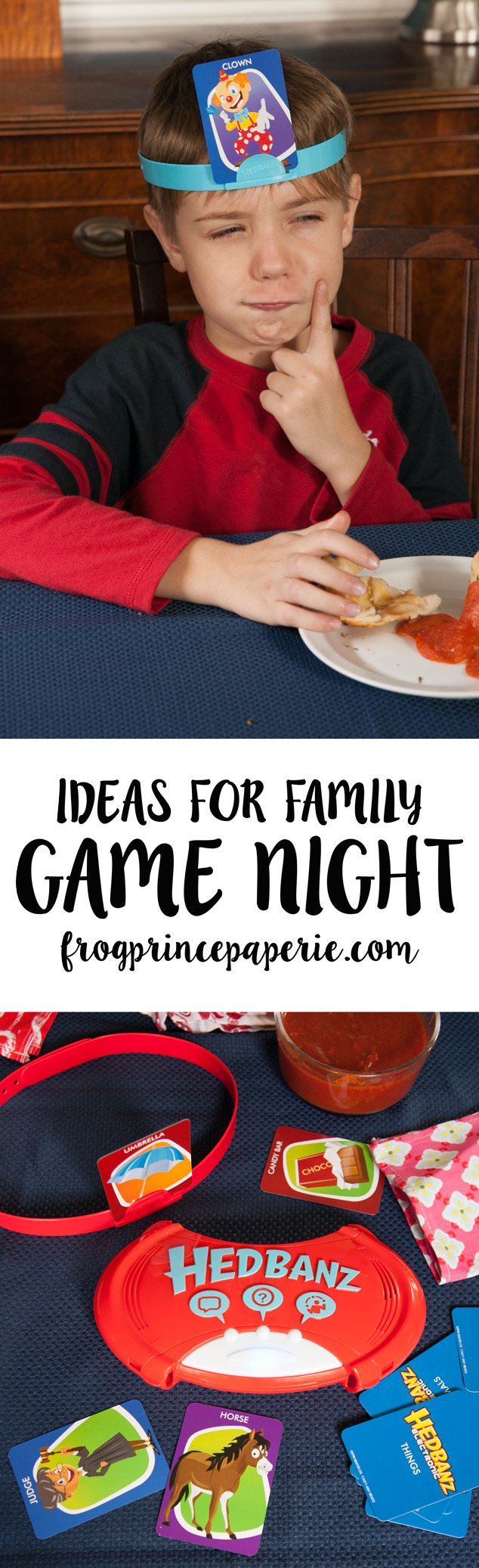 Family Game Night ideas with Hedbanz Electronic and Pull Apart Pizza Rolls