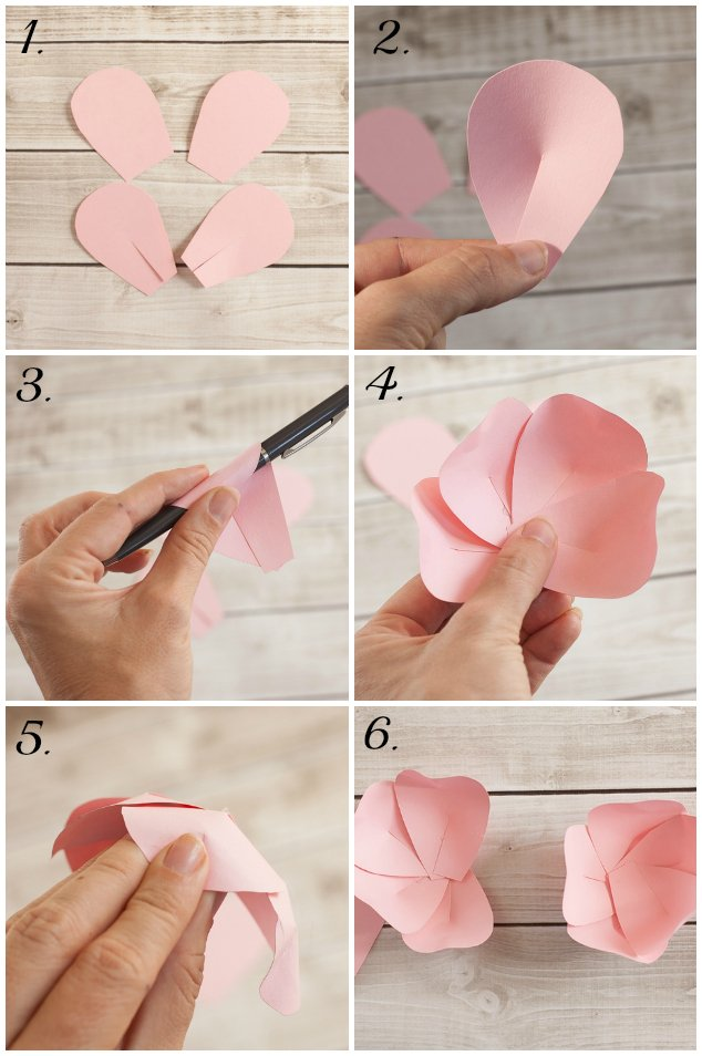 Paper flower tutorial frog prince paperie paper flower tutorial mightylinksfo