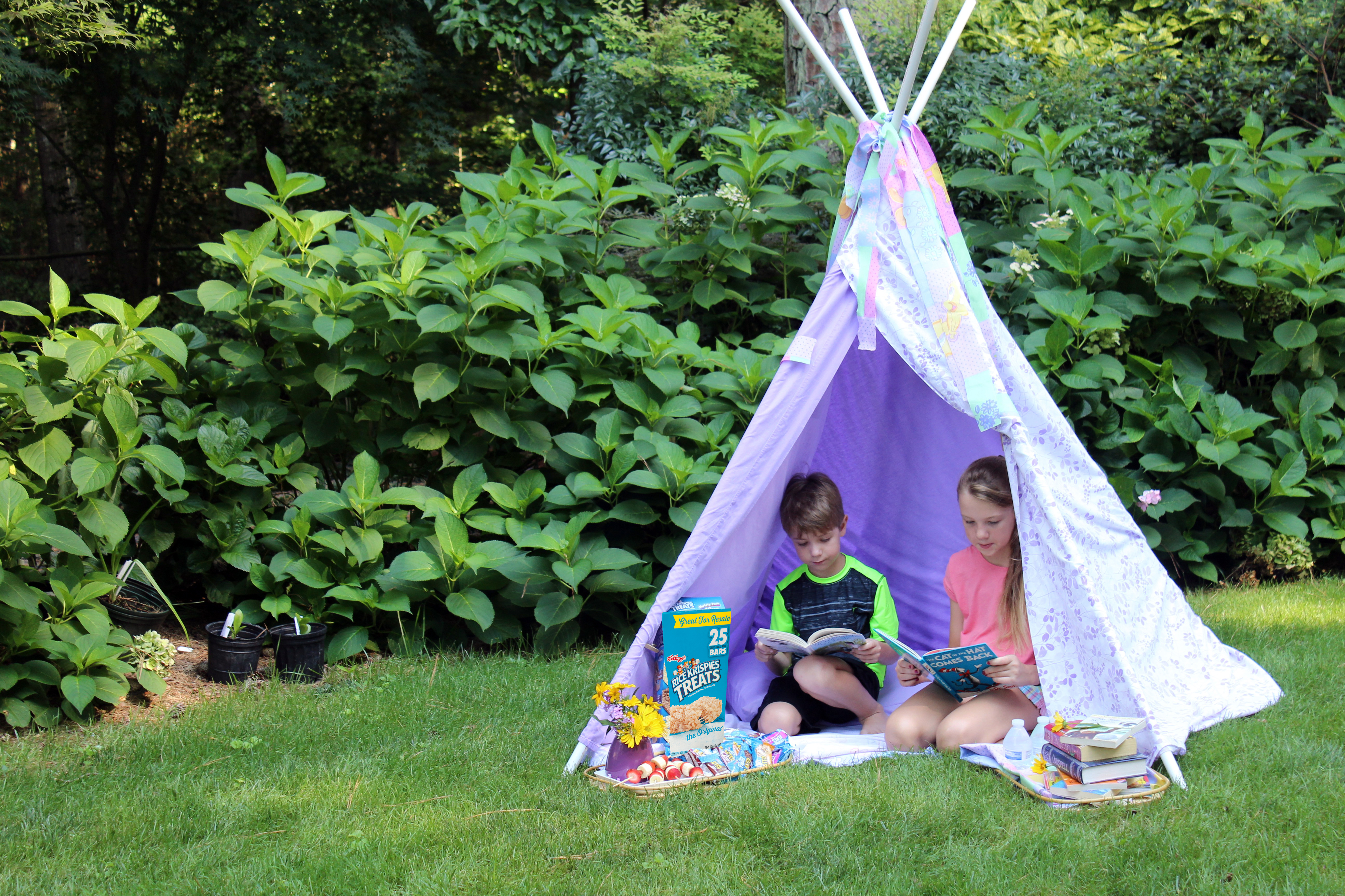 diy teepee for reading and other ideas for getting your kids to