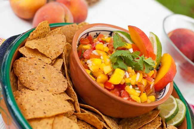 Iced Teagaritas and Mango Peach Salsa-13