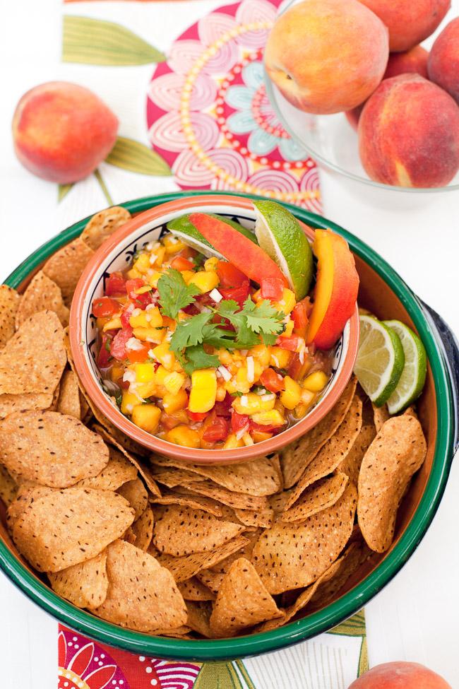 Iced Teagaritas and Mango Peach Salsa-15