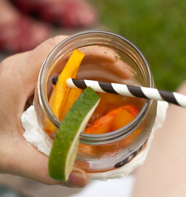 Iced Teagaritas and Mango Peach Salsa-16