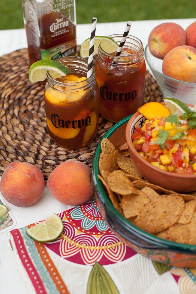 Iced Teagaritas and Mango Peach Salsa-4