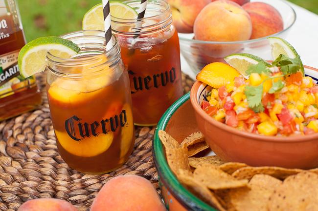 Iced Teagaritas and Mango Peach Salsa-6