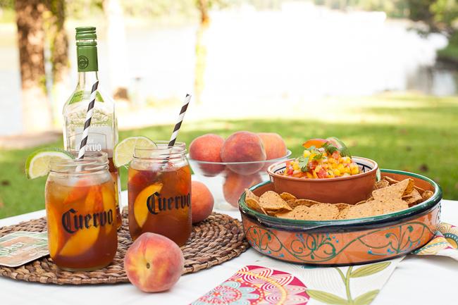 Iced Teagaritas and Mango Peach Salsa-9