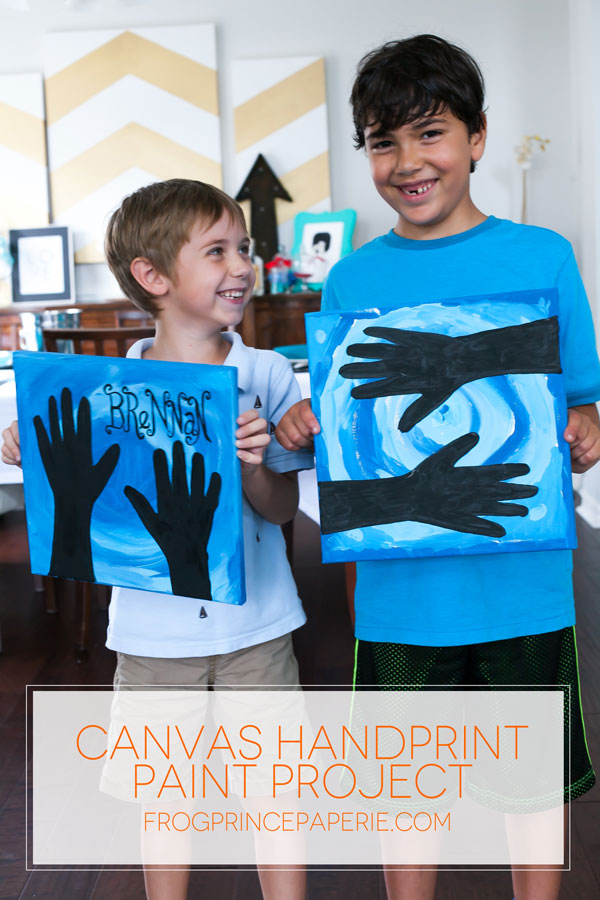 Kid Craft: Canvas Hand Painting Project