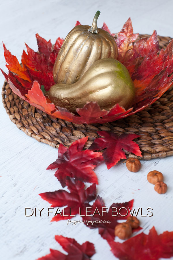 An easy to do fall decoration/fall craft leaf bowl