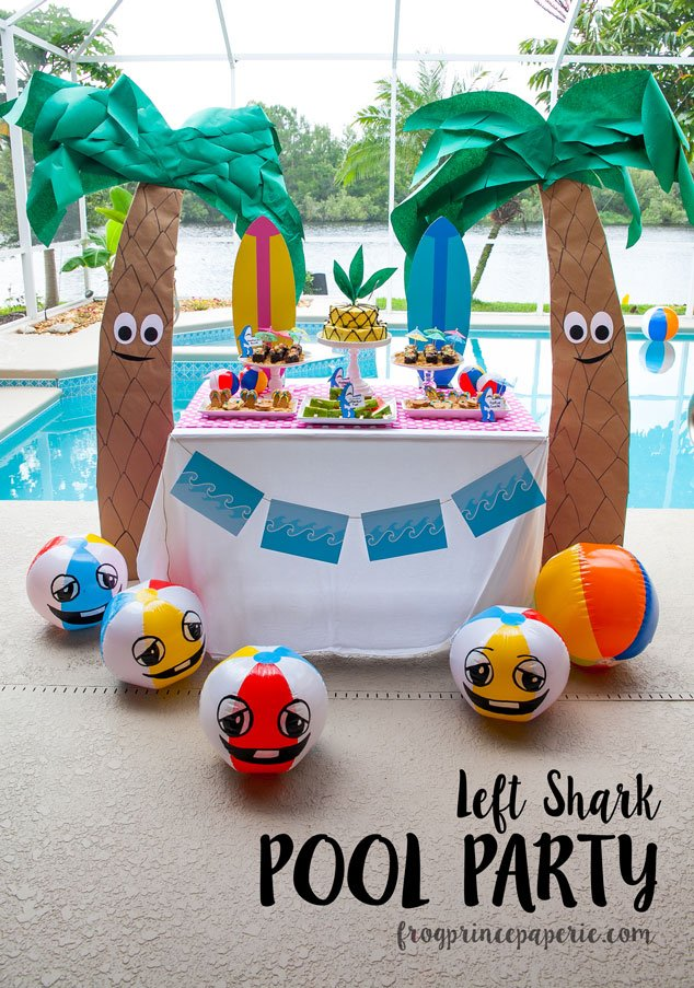 Left Shark Pool Party Ideas On A Budget Frog Prince Paperie