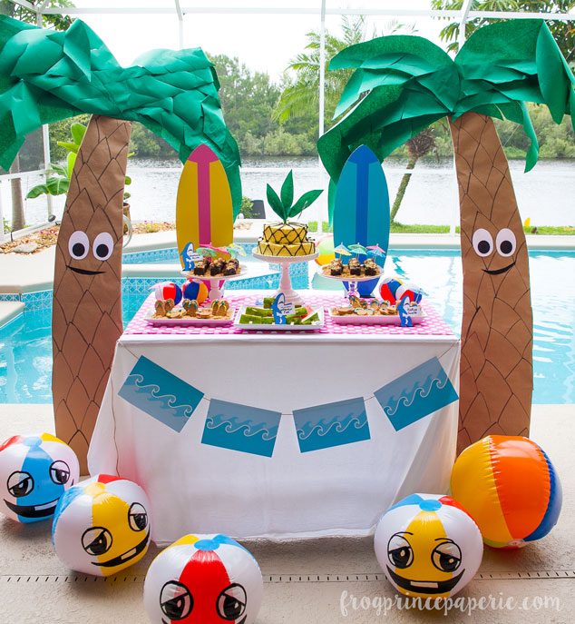 Getting ready for summer parties and need some unique inspiration? How about a few pool party ideas that get down with left shark and his friends for some cartoony, beachy pool fun. Whip these ideas up for a birthday pool party or get together!!