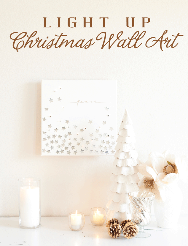 Create light-up Christmas wall art with this easy to do tutorial.