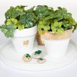 Lucky Gold Leaf Flower Pots