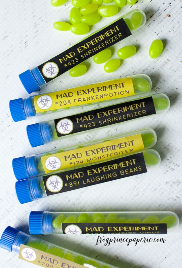 Mad Science Free Printable Test Tube Favor Tags