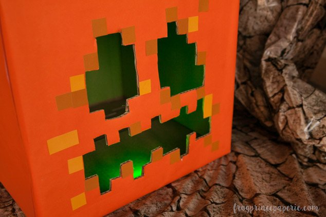 Trunk or treat ideas for your Minecraft fans! Love these glowing square pumpkins.