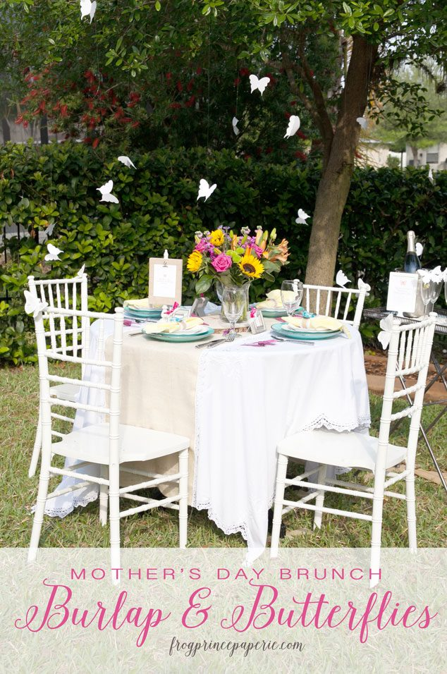 Burlap and Butterflies Mother's Day Brunch Ideas - Frog ...